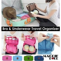 Travel Organizer Bra Underwear Pouch [Hot Pink]